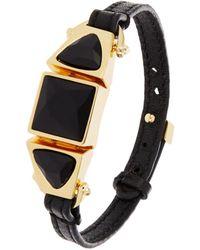 Trina Turk Chunky Stone Leather Flex Bracelet - Lyst