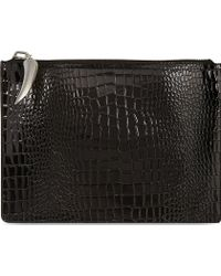 Giuseppe Zanotti Stamped Patent Leather Document Case Black - Lyst