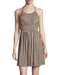 Rachel Pally Bamboo Pyramidprint Fitandflare Dress - Lyst