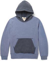 Remi Relief Hooded Cotton-jersey Sweatshirt - Lyst