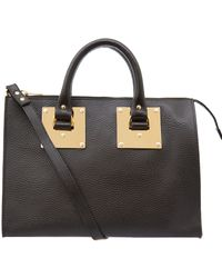 Sophie Hulme Black Mini Bowling Bag - Lyst
