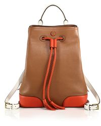 Tory Burch Frances Colorblocked Backpack - Lyst