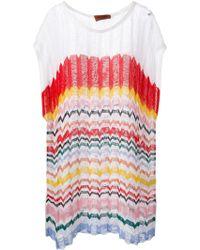 Missoni Zig Zag Crochet Short Dress - Lyst