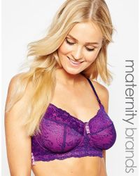 Hotmilk - Maternity Chic Nursing Bra - Purple - Lyst