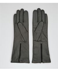 Reiss - Orchid Leather Gloves - Lyst