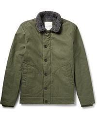 Saturdays Surf Nyc Bouclã-trimmed Coated Cotton-canvas Jacket - Lyst