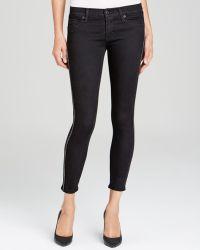 Hudson Jeans - Luna Skinny Embellished Crop in Black - Lyst