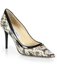 Jimmy Choo Hype Snakeskin & Patent Leather Point Toe Pumps - Lyst