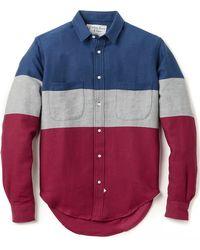 Sidian, Ersatz & Vanes Colorblocked Flannel Shirt - Lyst