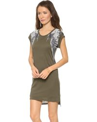 Haute Hippie Rolled Sleeve Raven Dress - Lyst