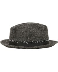 Miharayasuhiro - Adjustable Wool & Linen Hat W/ Stitching - Lyst