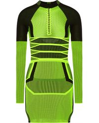 Alexander Wang Open-Back Two-Tone Mesh Mini Dress - Lyst