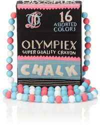 Olympia Le-Tan Black Embroidered Chalk Box Bag multicolor - Lyst