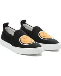 Joshua Sanders Black Smile Sneakers - Lyst