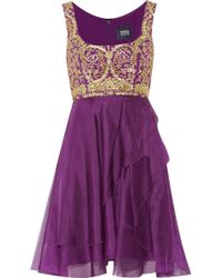 Notte By Marchesa Embellished Tulle And Silk-Chiffon Dress - Lyst