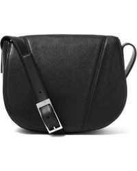 Vince - Black Leather Medium V Shoulder Bag - Lyst
