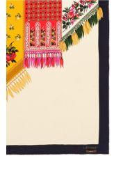 Ibrigu - One Of A Kind Patchwork Ornate Print Silk Scarf - Lyst