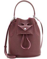 Marc By Marc Jacobs Metropoli Bucket Leather Shoulder Bag - Lyst