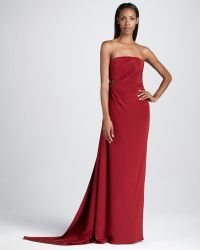 David Meister Signature Strapless Gown with Beaded Embellishment - Lyst