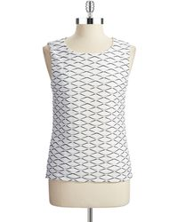 Calvin Klein Textured Top - Lyst