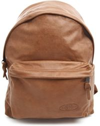 Eastpak Padded Pak'R Camel Leather Backpack - Lyst