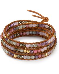 Chan Luu - Pink Mix Five Wrap Bracelet - Lyst