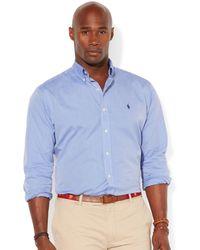 Polo Ralph Lauren Big and Tall Long Sleeve Solid Poplin Shirt - Lyst