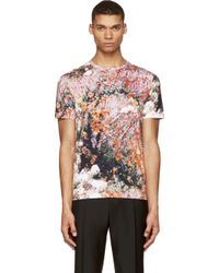 Carven Green Macro Forest Print T_shirt - Lyst