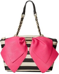 Betsey Johnson Bownanza 2 Satchel - Lyst