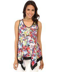 Karen Kane Floral Technicolor Tank Top multicolor - Lyst