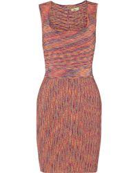 Issa Pink Stretch-knit Dress - Lyst