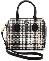 Tory Burch Robinson Plaid Mini Middy Satchel  - Lyst