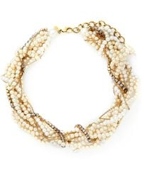 Erickson Beamon 'Lady And The Tramp' Mix Twist Faux Pearl Necklace - Lyst