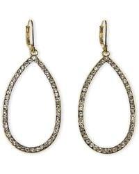 Tahari - Gold-Tone Teardrop-Shaped Earrings - Lyst