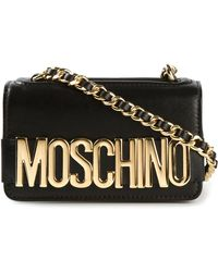 Moschino Logo-Detail Leather Cross-Body Bag - Lyst