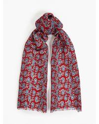 Paul Smith Men'S Paisley Printed Silk-Blend Scarf - Lyst