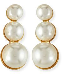 Auden - Lana Pearly Tiered Earrings - Lyst