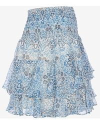 Twelfth Street Cynthia Vincent - Exclusive Printed Ruffle Skirt - Lyst