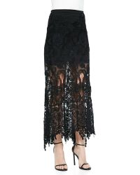 Donna Karan New York A-line Macrame Skirt - Lyst