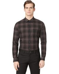 Calvin Klein Modern Fit Ombre Plaid Sport Shirt - Lyst