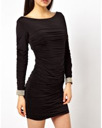 Forever Unique Dylan Dress with Embellished Cuffs - Lyst