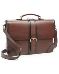 Ferragamo 'Nikos' Calfskin Briefcase - Lyst