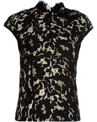 Lover Warrior French-Lace Top black - Lyst