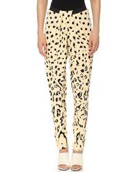 Willow - Print Draped Pants Ocelot - Lyst