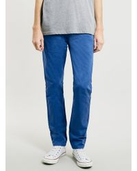 Topman Classic Blue Skinny Chinos - Lyst