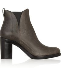 Alexander Wang Irina Distressed Leather Ankle Boots - Lyst
