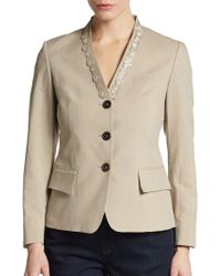 Pauw Embellished-Collar Cotton-Blend Jacket - Lyst