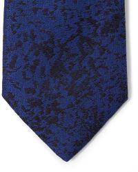 Lanvin - Navy Jacquard Tie - Lyst