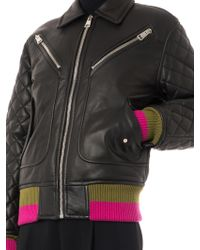 Jonathan Saunders - Marley Quilted Leather Bomber Jacket - Lyst