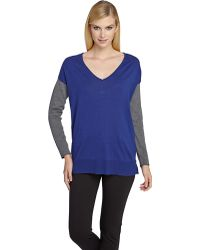 Catherine Catherine Malandrino Colorblock Sweater - Lyst